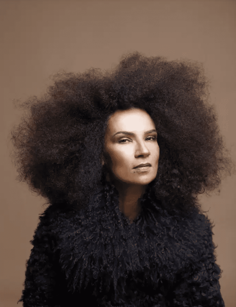 La chanteuse marocaine Oum. AMINE CHBANI