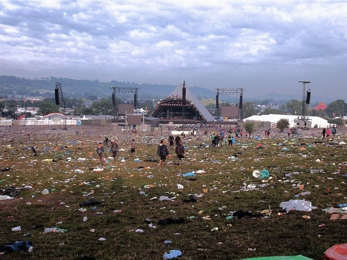 Music festivals generate an enormous amount of plastic waste FLICKR:NICK RICE