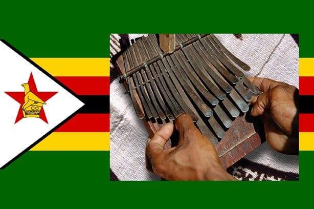 Drapeau du Zimbabwé & Mbira