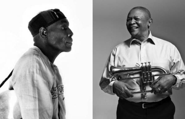 Oliver Mtukudzi and Hugh Masekela first met in Harare in the '80s.