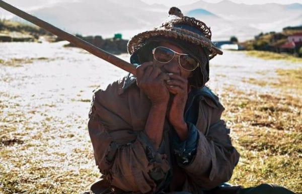 A lesiba player in Lesotho. Photo: Tsiklonaut
