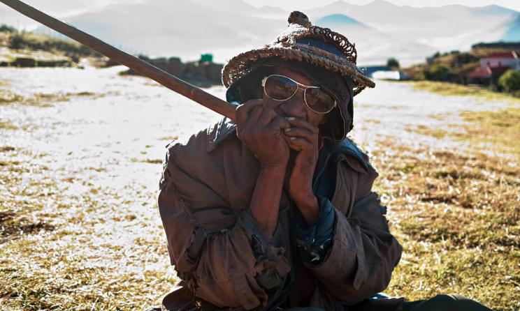 A lesiba player in Lesotho. Photo: Tsiklonaut