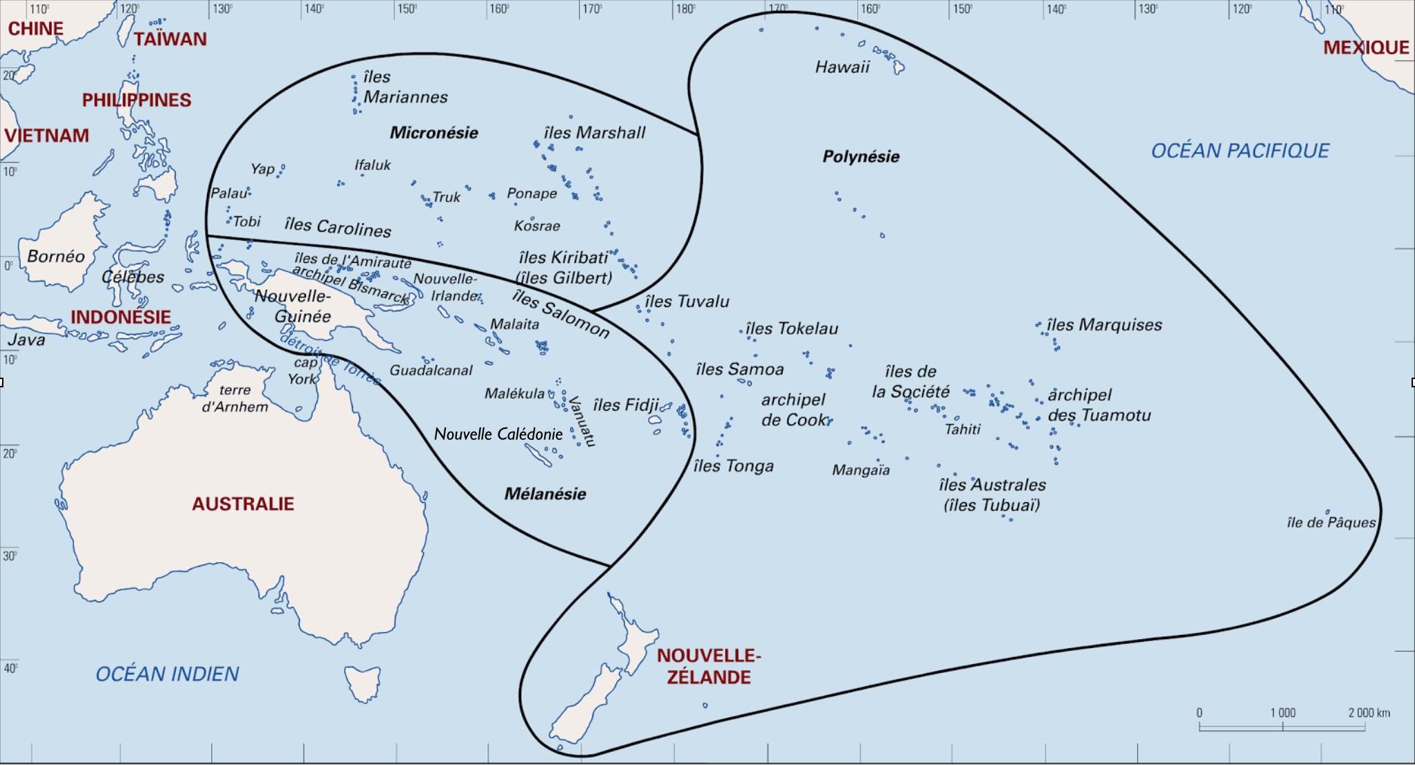 Zone Culturelles D'océanie D'après Mervyn Mclean©dr