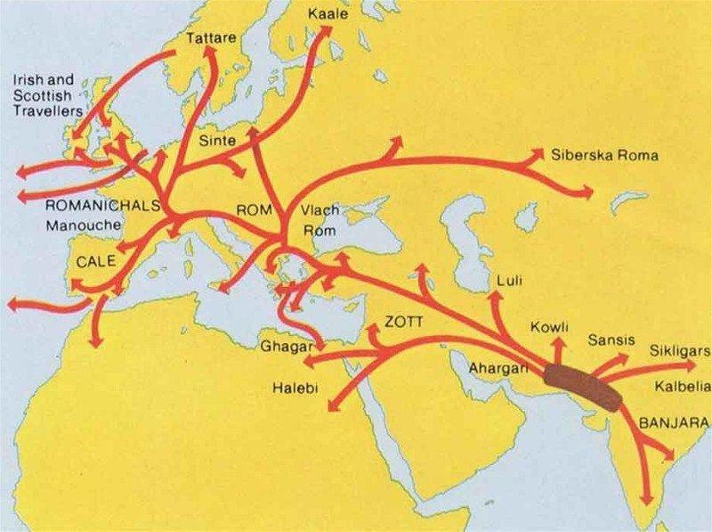 Itinéraire Carte Roms